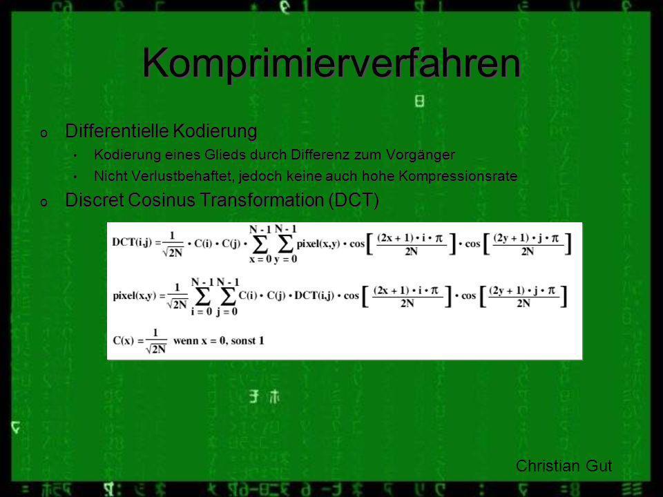 Komprimierverfahren Differentielle Kodierung