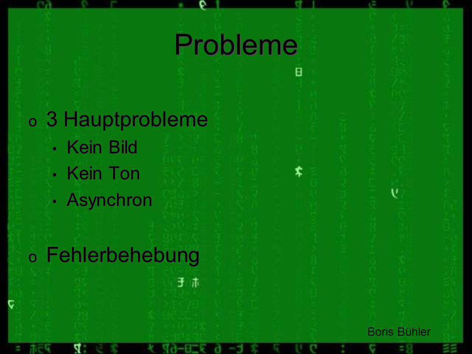 Probleme 3 Hauptprobleme Fehlerbehebung Kein Bild Kein Ton Asynchron