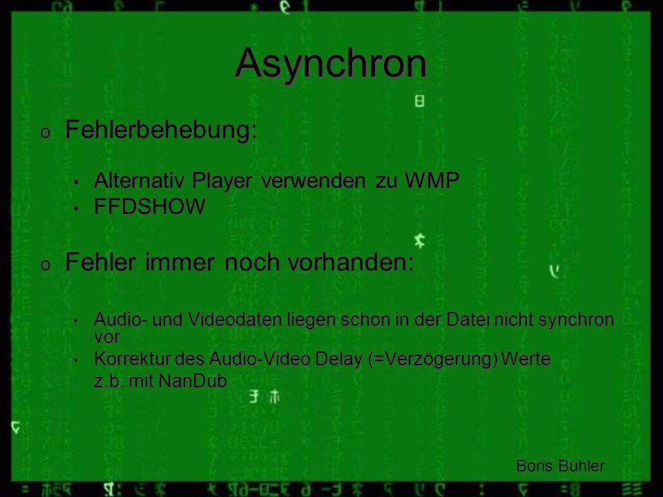 Asynchron Fehlerbehebung: Fehler immer noch vorhanden: