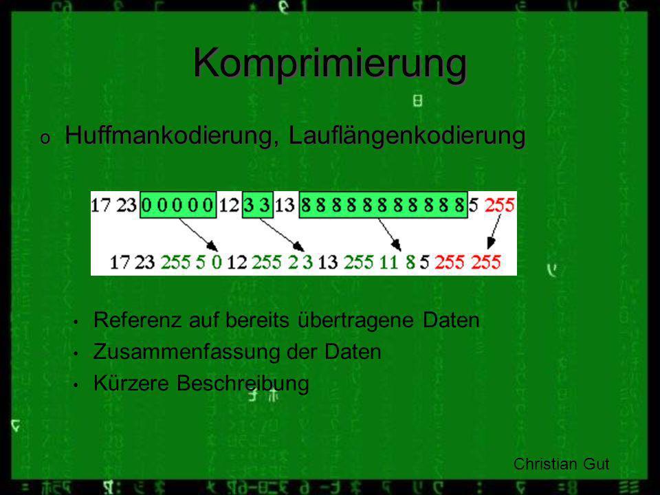 Komprimierung Huffmankodierung, Lauflängenkodierung