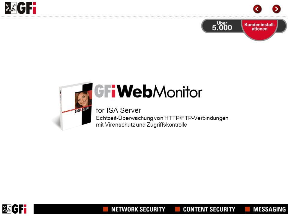 for ISA Server Echtzeit-Überwachung von HTTP/FTP-Verbindungen mit Virenschutz und Zugriffskontrolle