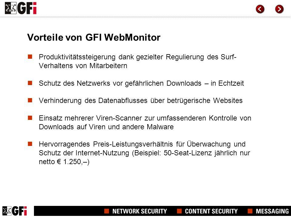 Vorteile von GFI WebMonitor