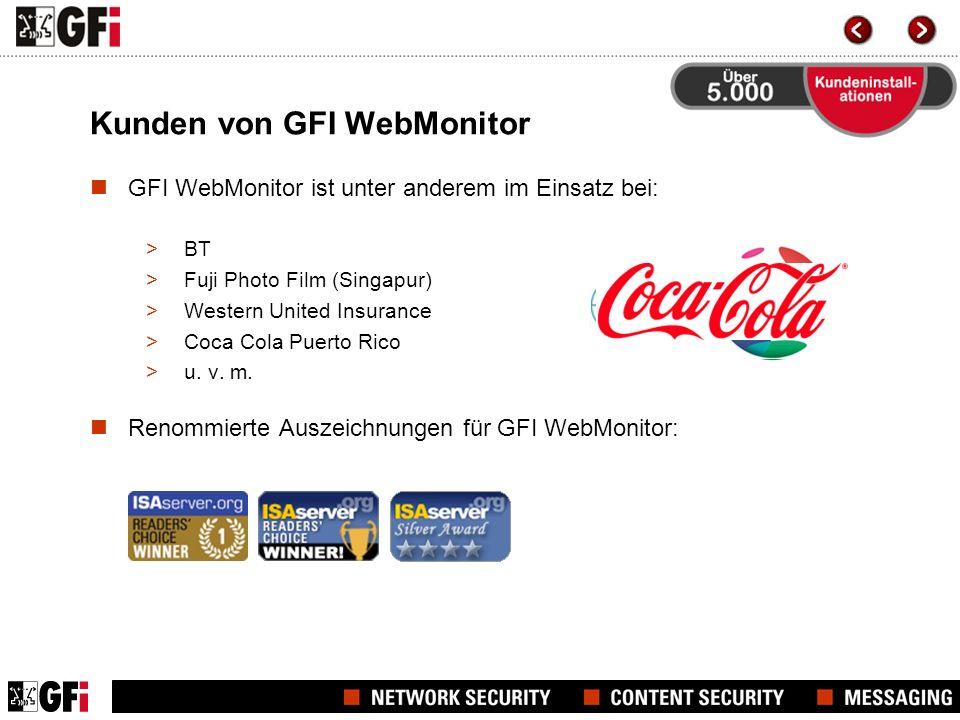 Kunden von GFI WebMonitor