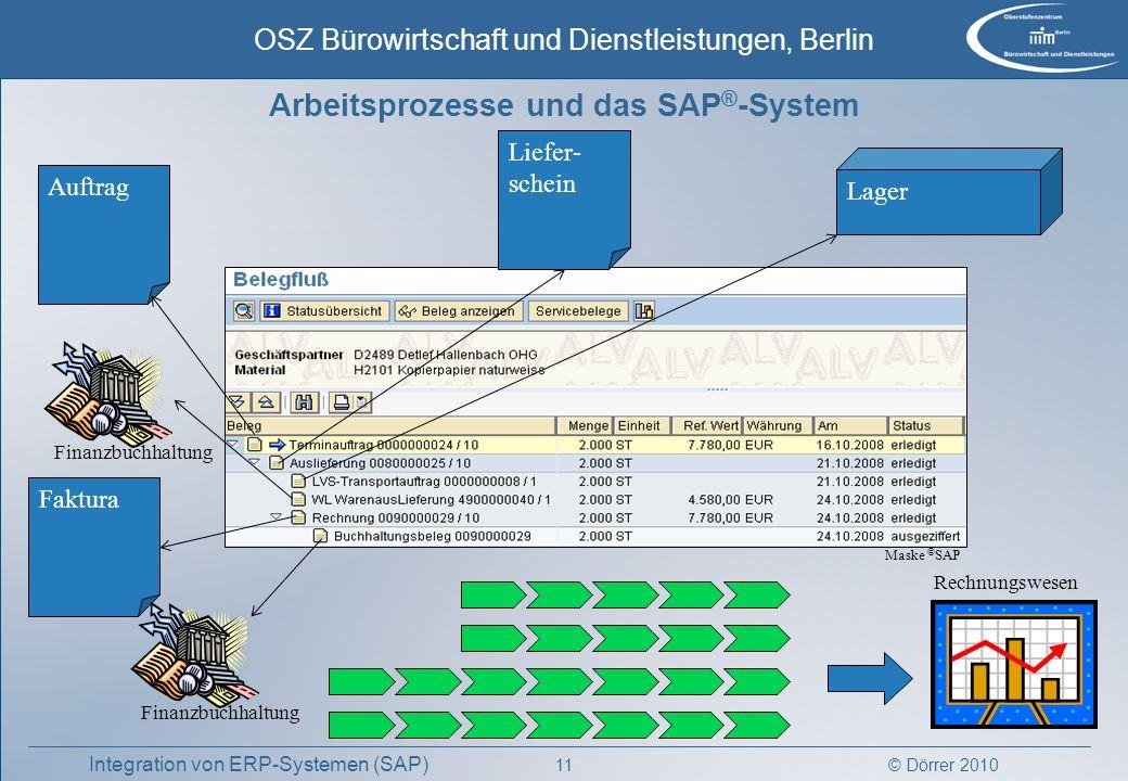 Arbeitsprozesse und das SAP®-System