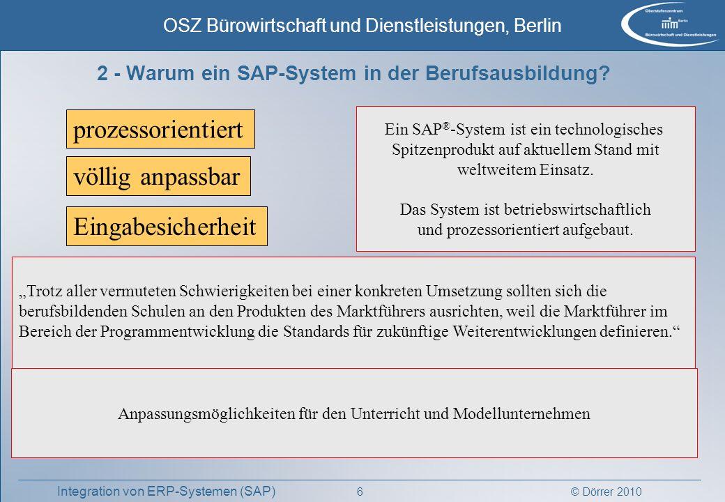 2 - Warum ein SAP-System in der Berufsausbildung