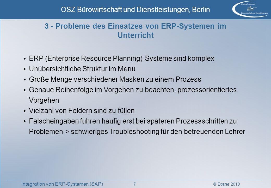 3 - Probleme des Einsatzes von ERP-Systemen im Unterricht