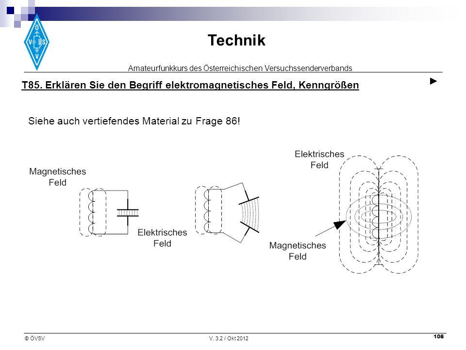 ► T85. Erklären Sie den Begriff elektromagnetisches Feld, Kenngrößen.