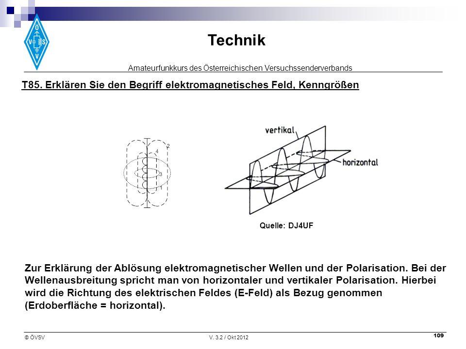 T85. Erklären Sie den Begriff elektromagnetisches Feld, Kenngrößen