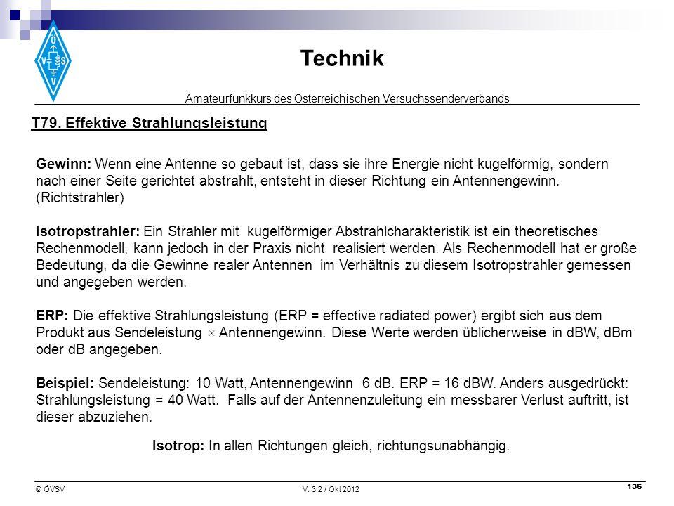 T79. Effektive Strahlungsleistung