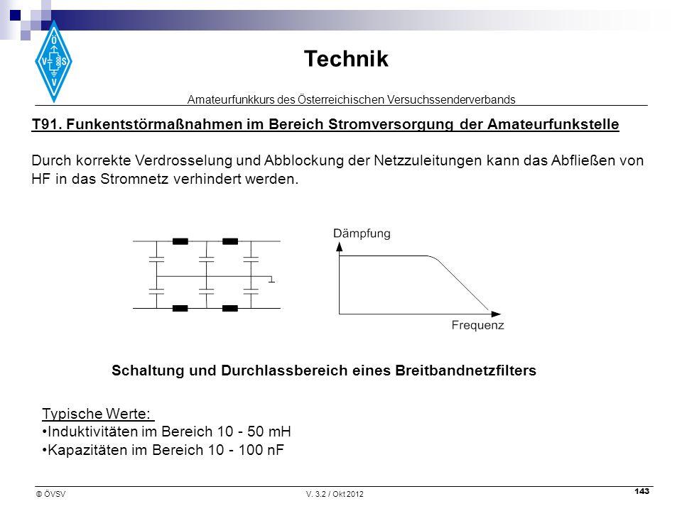 T91. Funkentstörmaßnahmen im Bereich Stromversorgung der Amateurfunkstelle