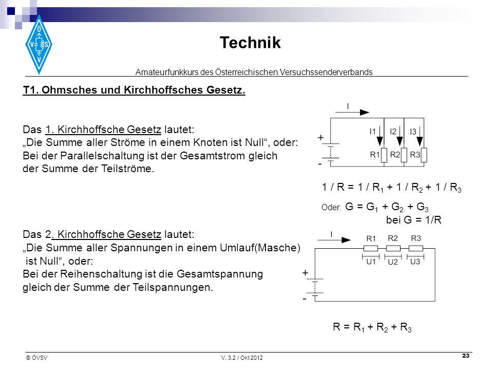 T1. Ohmsches und Kirchhoffsches Gesetz.