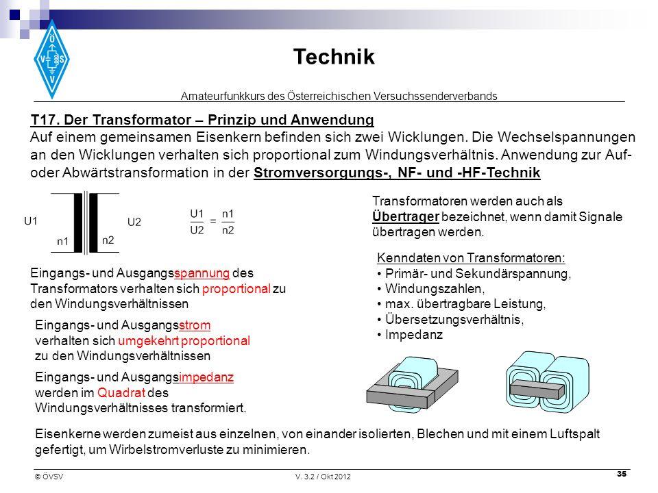T17. Der Transformator – Prinzip und Anwendung