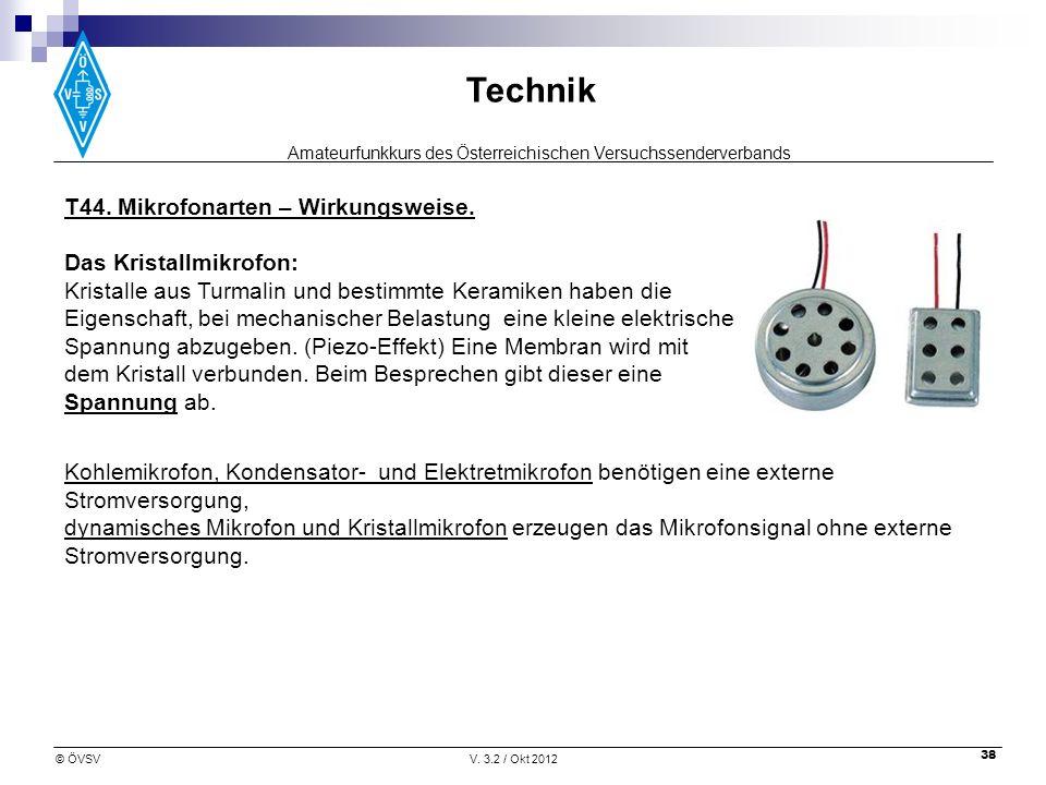 T44. Mikrofonarten – Wirkungsweise.