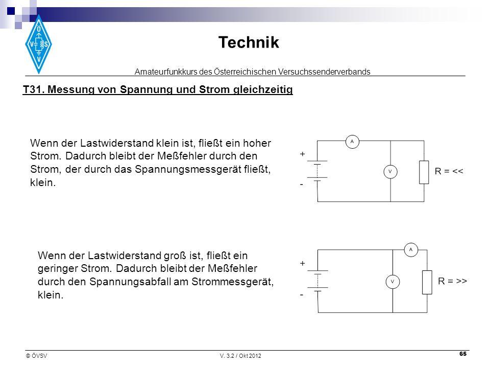 T31. Messung von Spannung und Strom gleichzeitig