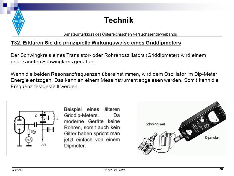 T32. Erklären Sie die prinzipielle Wirkungsweise eines Griddipmeters