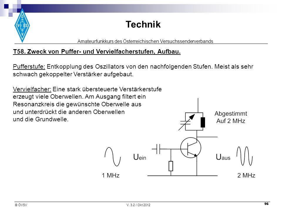 T58. Zweck von Puffer- und Vervielfacherstufen, Aufbau.