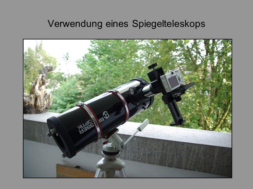 Verwendung eines Spiegelteleskops