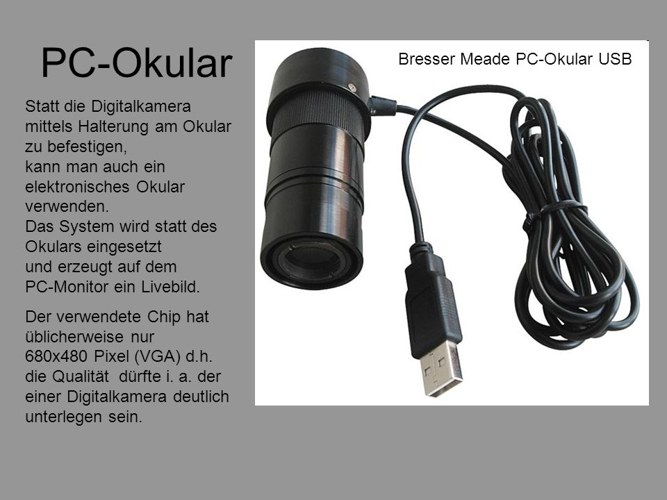 PC-Okular Bresser Meade PC-Okular USB