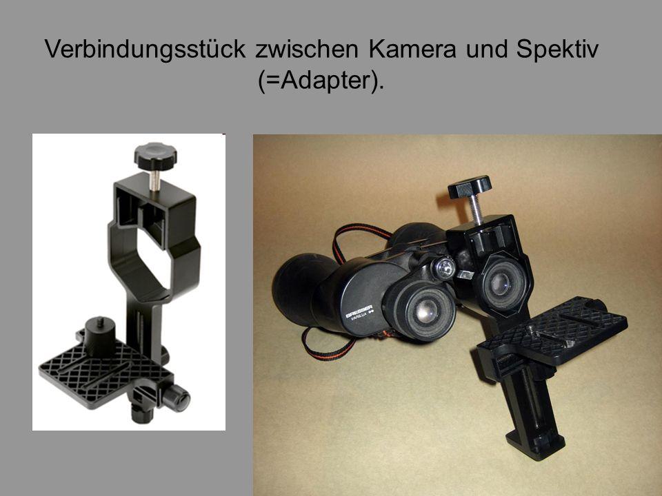 Verbindungsstück zwischen Kamera und Spektiv
