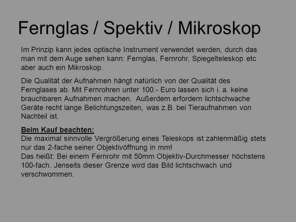 Fernglas / Spektiv / Mikroskop