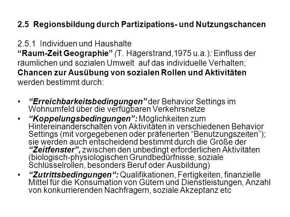2.5 Regionsbildung durch Partizipations- und Nutzungschancen