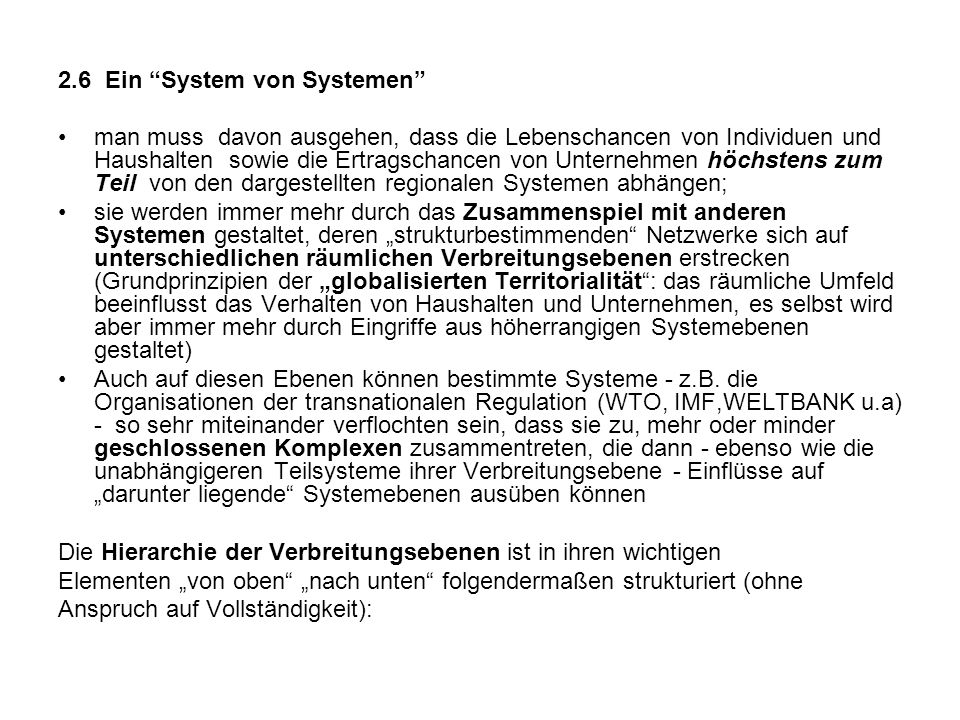 2.6 Ein System von Systemen