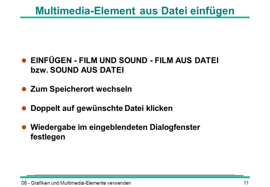Multimedia-Element aus Datei einfügen