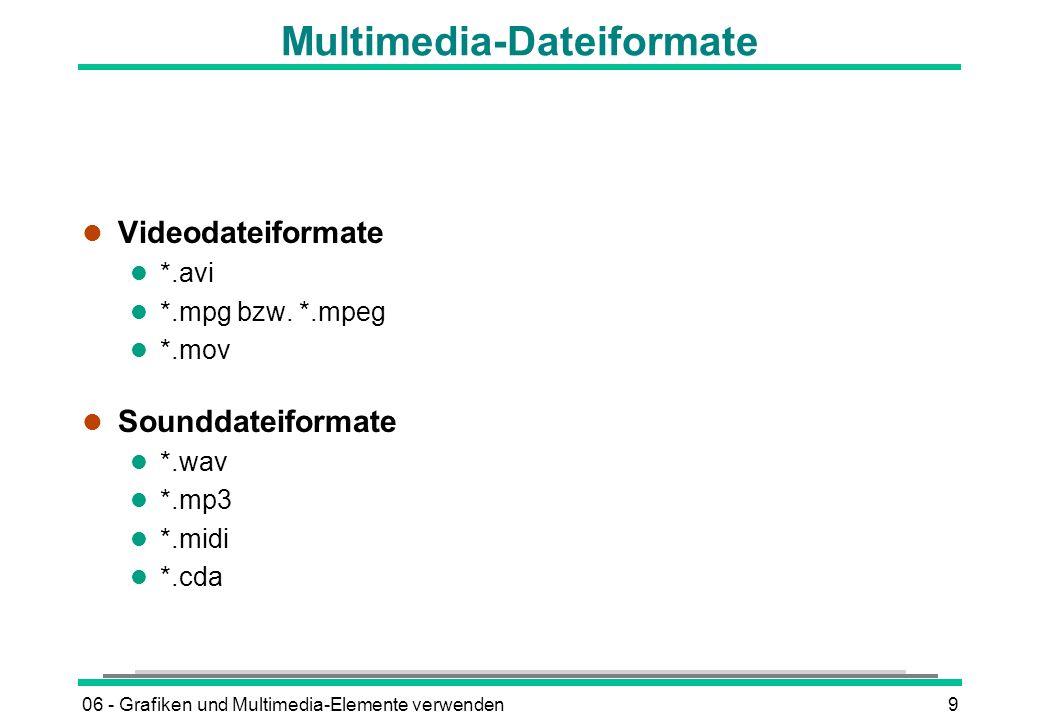 Multimedia-Dateiformate