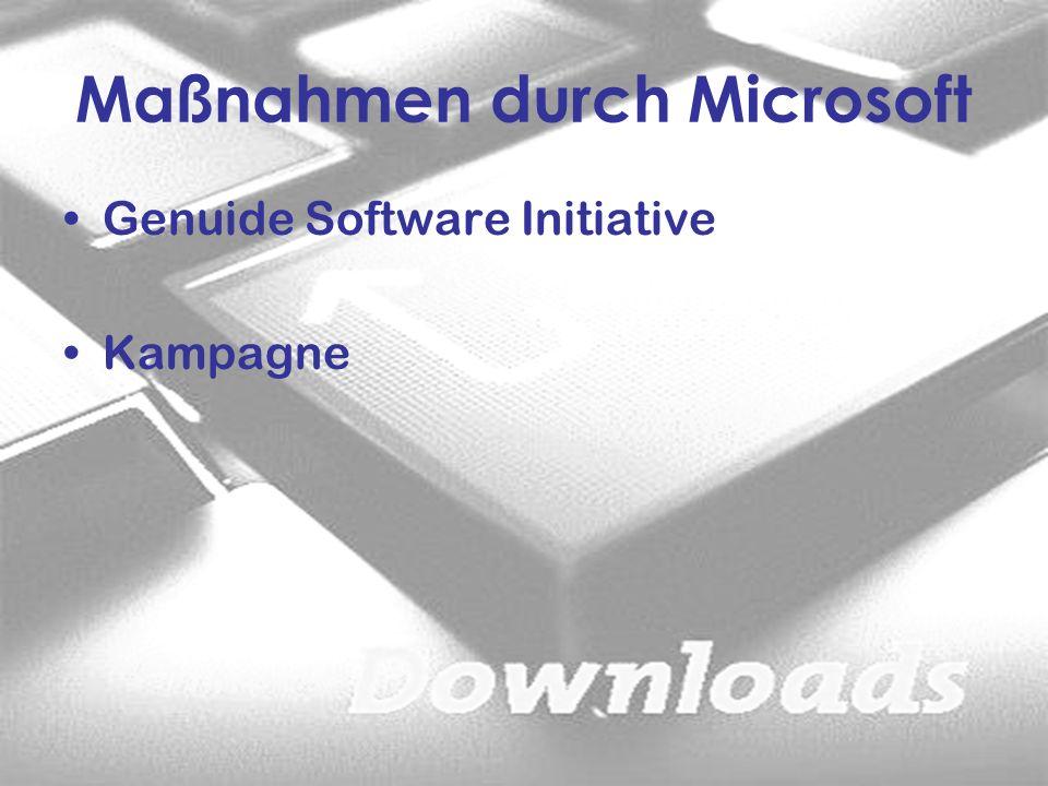 Maßnahmen durch Microsoft