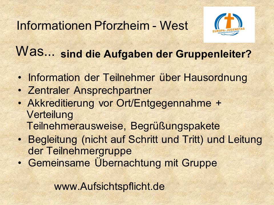 Was... Informationen Pforzheim - West