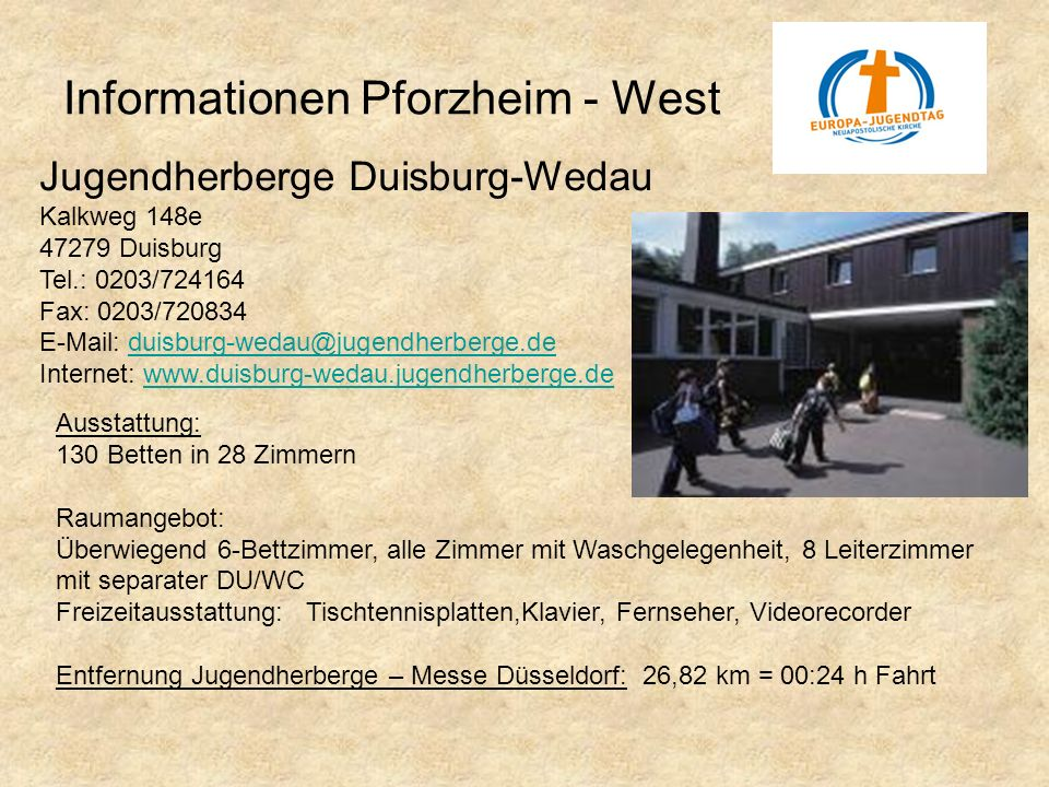 Informationen Pforzheim - West