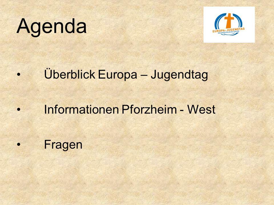 Agenda Überblick Europa – Jugendtag Informationen Pforzheim - West