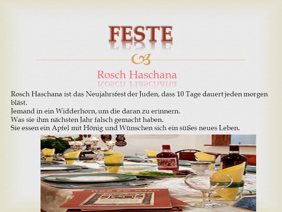 Feste Rosch Haschana. Rosch Haschana ist das Neujahrsfest der Juden, dass 10 Tage dauert jeden morgen.