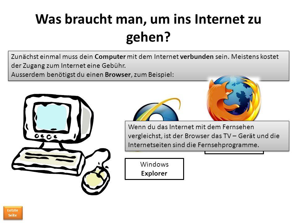 Was braucht man, um ins Internet zu gehen
