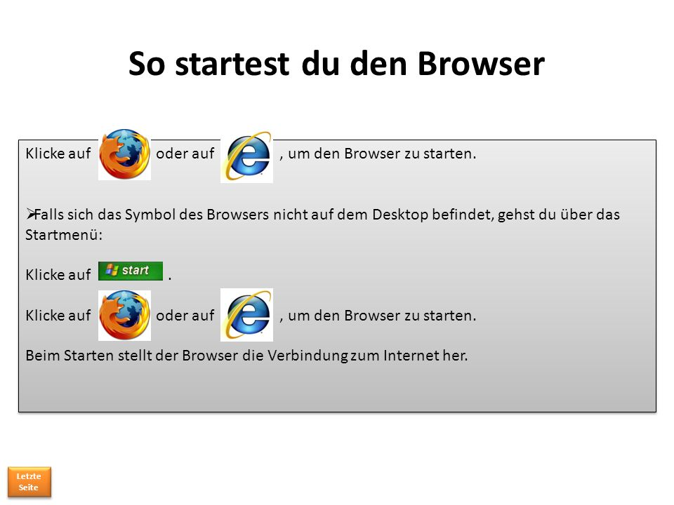 So startest du den Browser