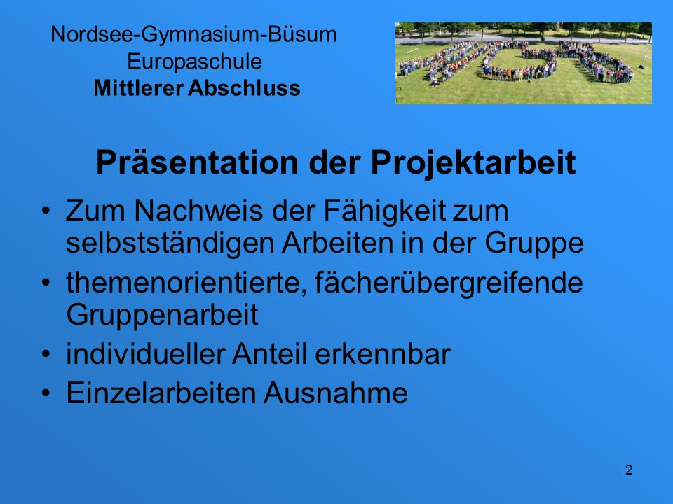 Nordsee-Gymnasium-Büsum Europaschule Mittlerer Abschluss