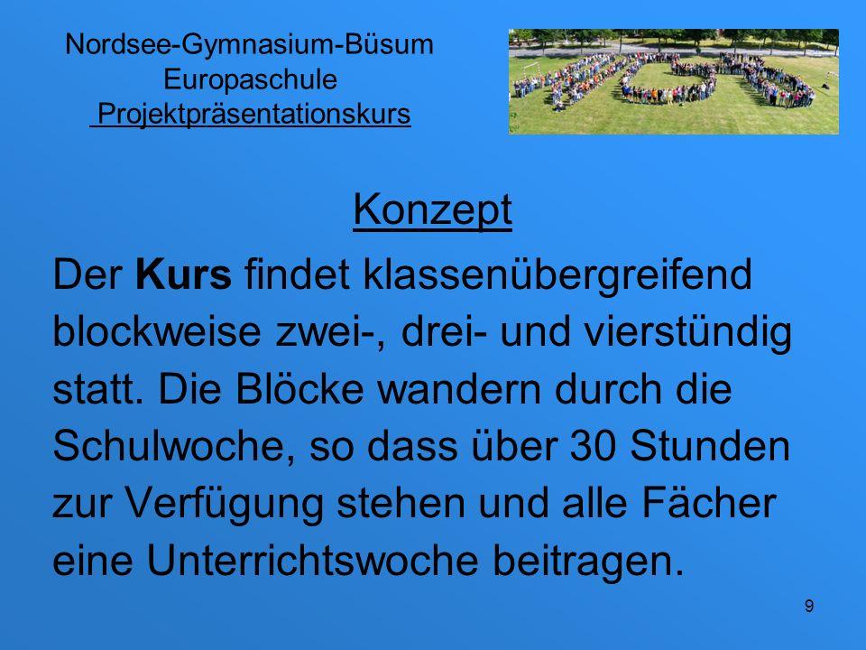 Nordsee-Gymnasium-Büsum Europaschule Projektpräsentationskurs
