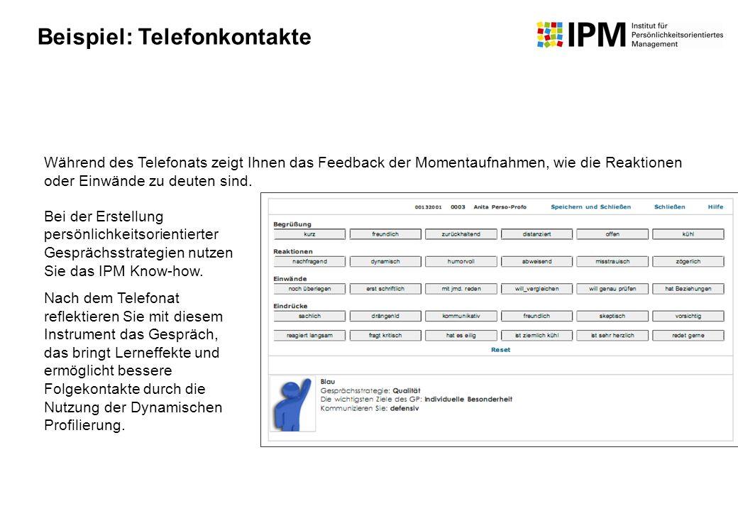 Beispiel: Telefonkontakte