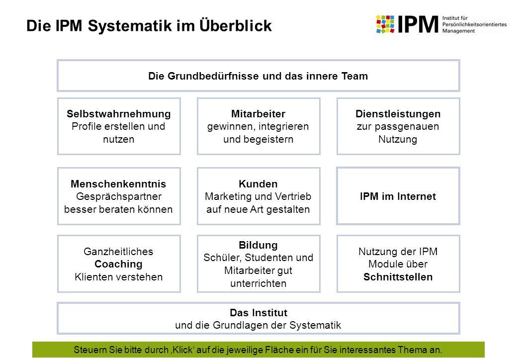 Die Grundbedürfnisse und das innere Team
