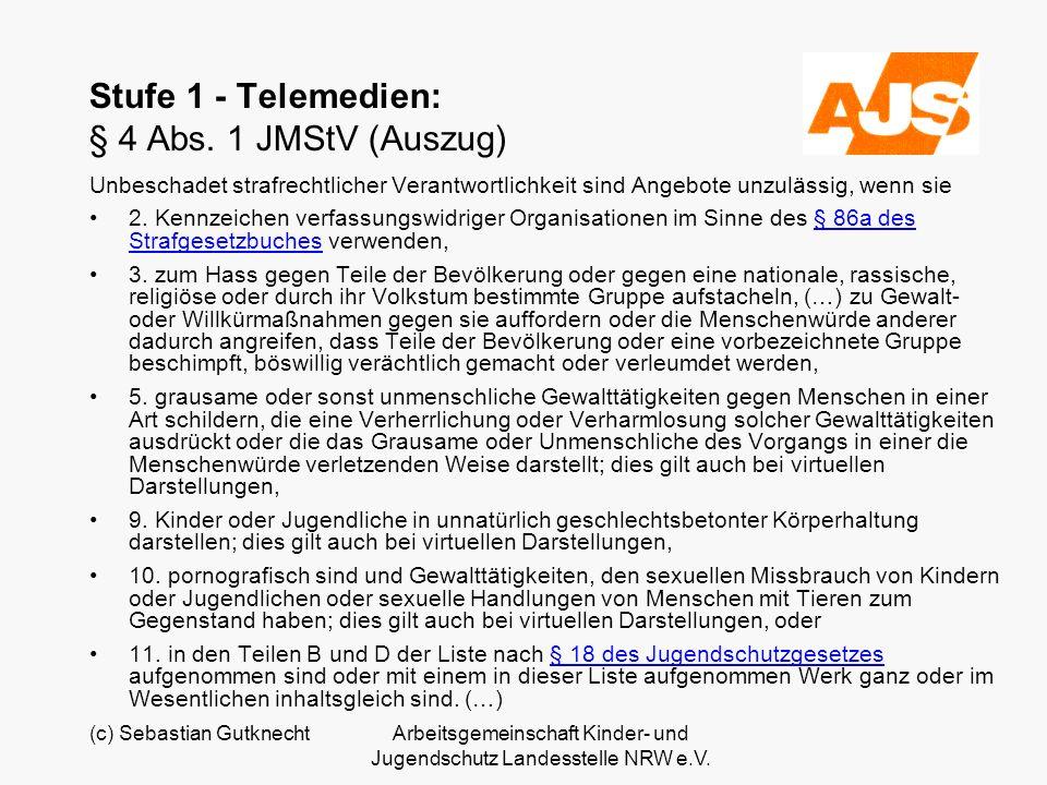 Stufe 1 - Telemedien: § 4 Abs. 1 JMStV (Auszug)