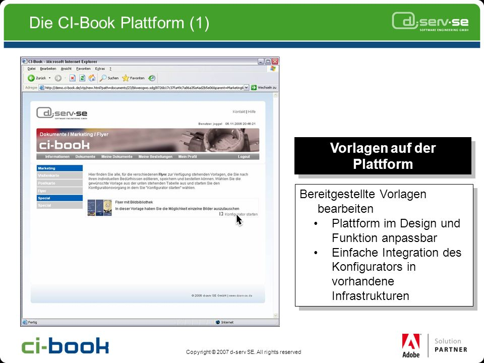 Die CI-Book Plattform (1)