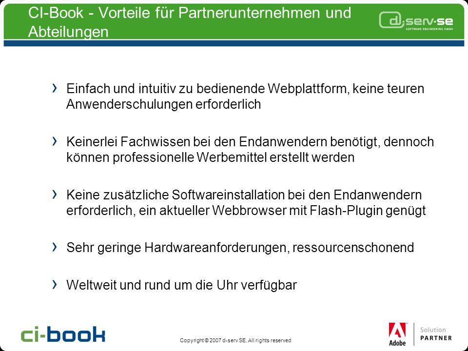 CI-Book - Vorteile für Partnerunternehmen und Abteilungen