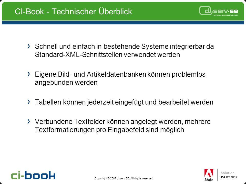 CI-Book - Technischer Überblick