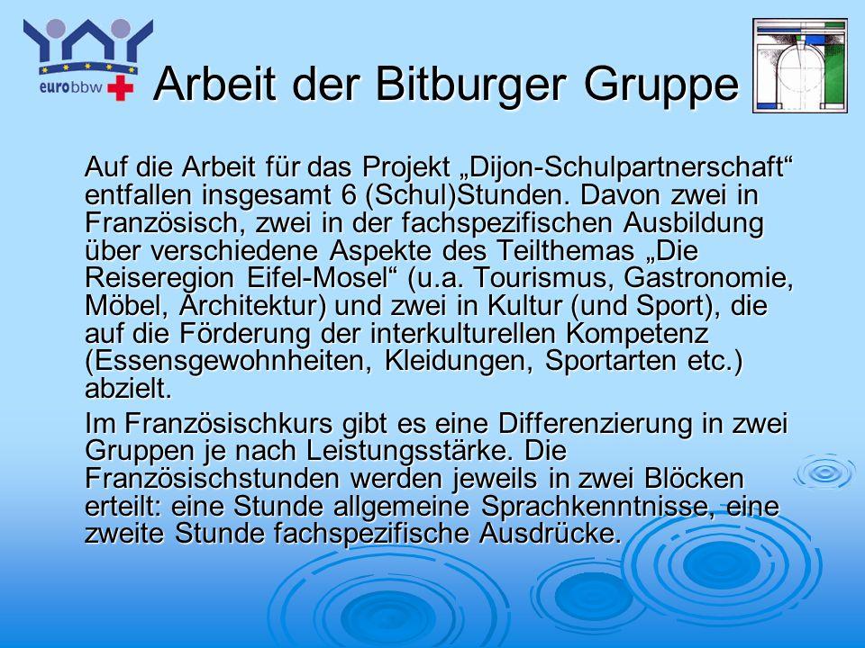Arbeit der Bitburger Gruppe