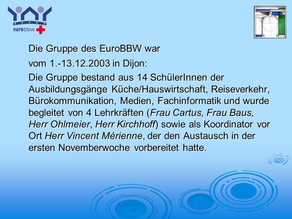 Die Gruppe des EuroBBW war