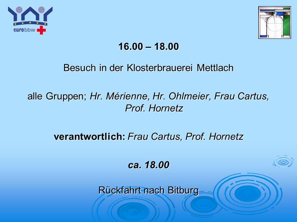 Besuch in der Klosterbrauerei Mettlach