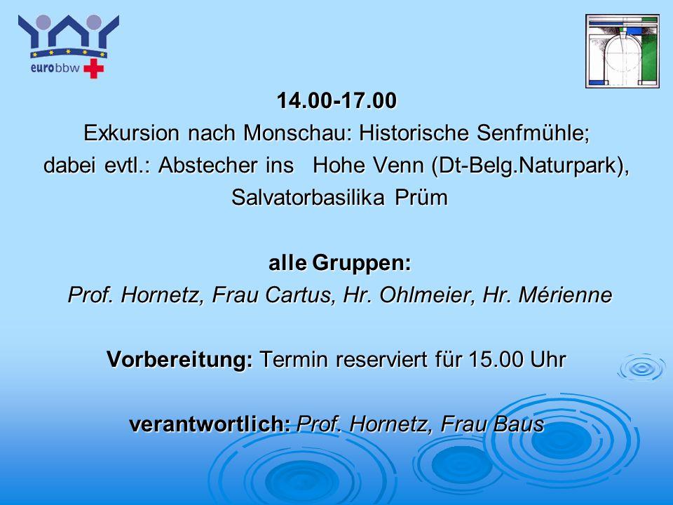 Exkursion nach Monschau: Historische Senfmühle;