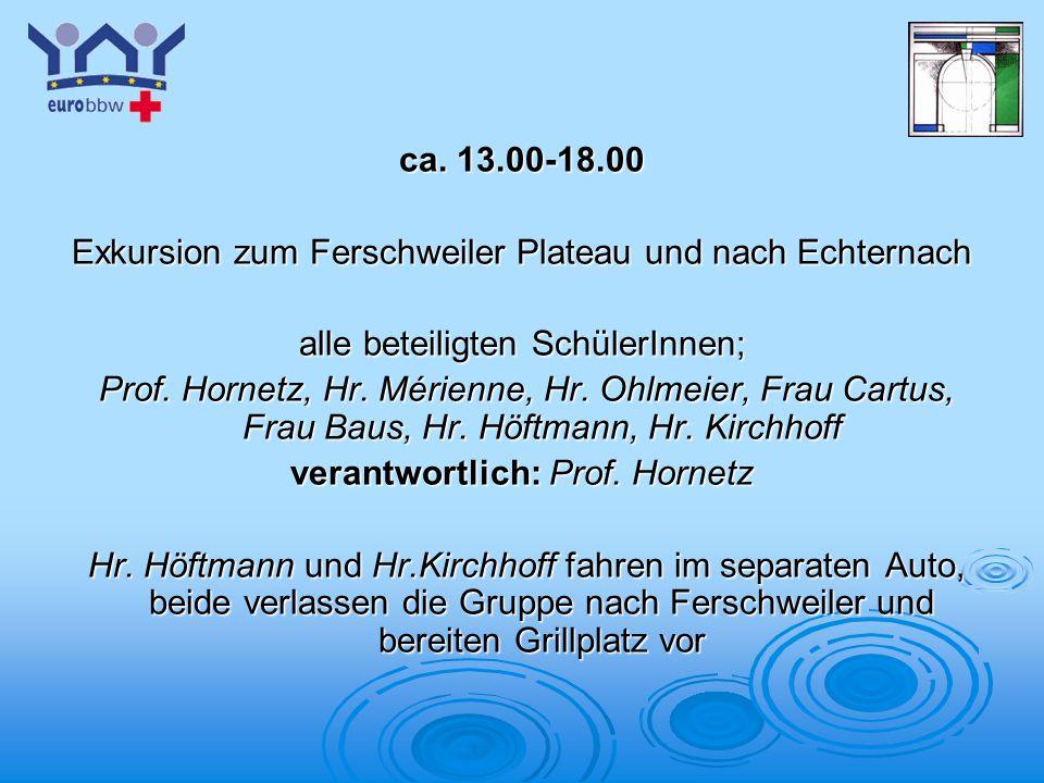 Exkursion zum Ferschweiler Plateau und nach Echternach