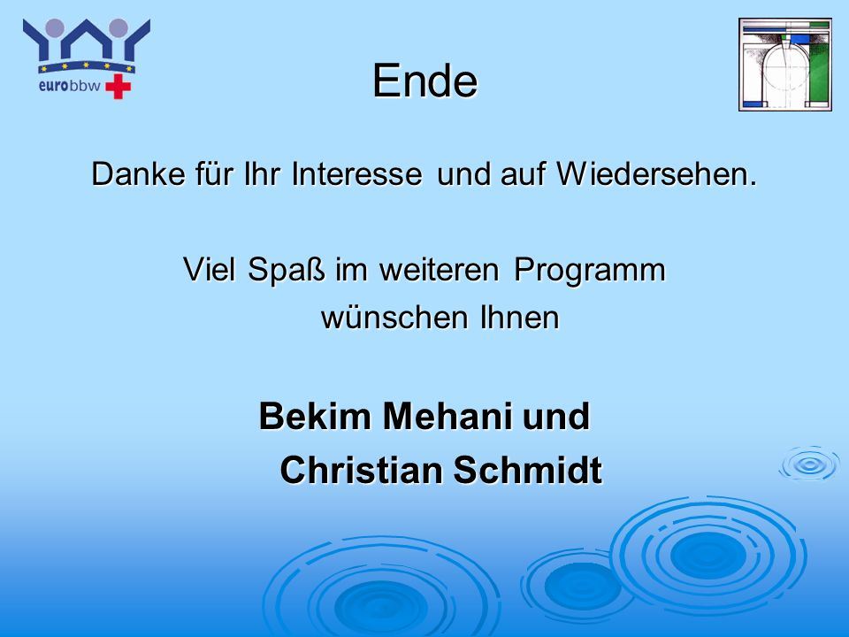 Ende Bekim Mehani und Christian Schmidt