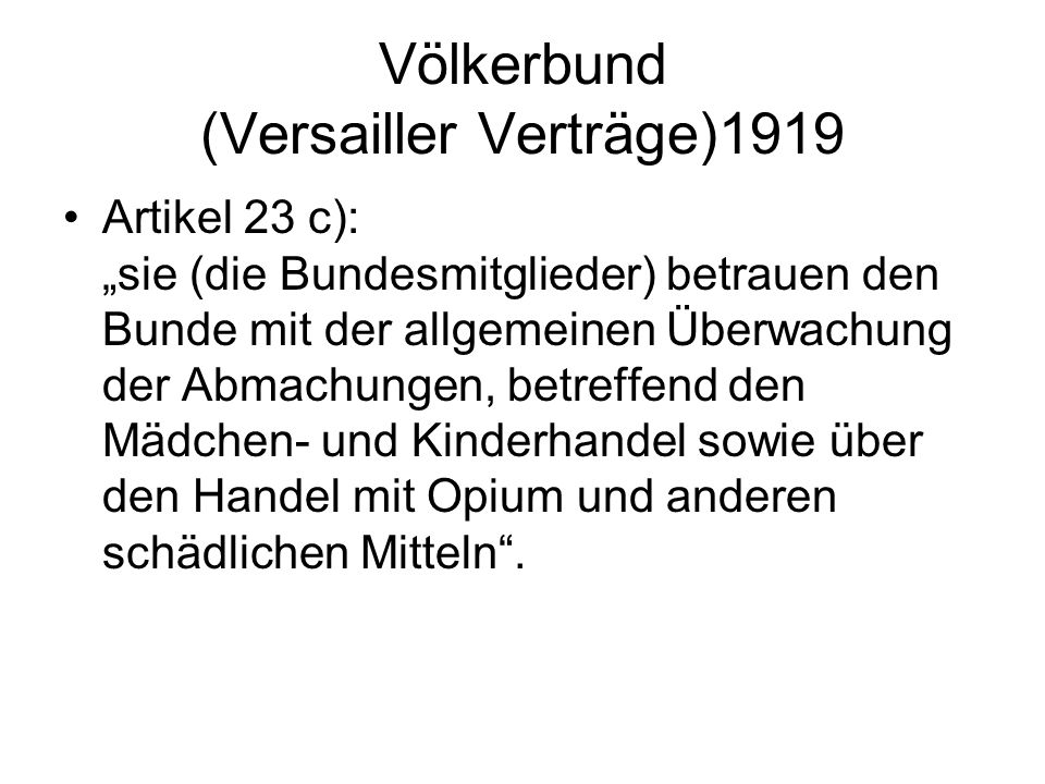 Völkerbund (Versailler Verträge)1919